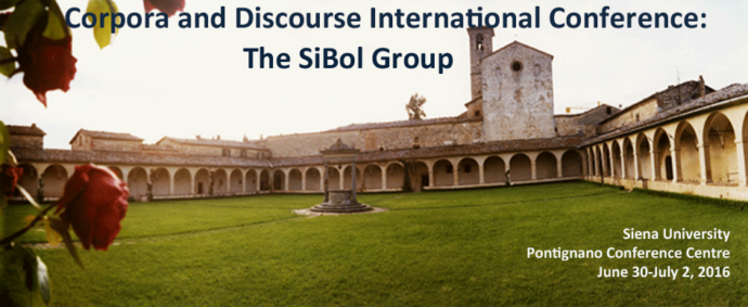 Corpora and Discourse International Conference: The SiBol Group Siena June 30 – July 2, 2016